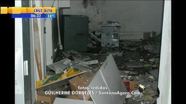 Posto bancário é explodido em Santana da Boa Vista, RS - Crime aconteceu pouco depois da meia noite de terça-feira (15).