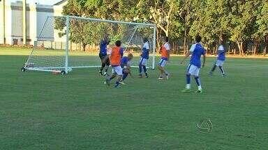 Santa Cruz faz treino antes de enfrentar o Vasco na Arena Pantanal - O Santa Cruz fez um treino antes de enfrentar o Vasco na Arena Pantanal.