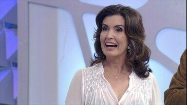 """""""A química funciona!"""", brinca Fátima Bernardes sobre casamento com Bonner - Nakamura diz que apresentadora é sedutora"""