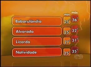 Confira a previsão do tempo para esta segunda-feira (21) no Tocantins - Confira a previsão do tempo para esta segunda-feira (21) no Tocantins