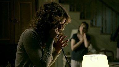 Cristina recebe a notícia do incêndio no quiosque - Eliane passa mal