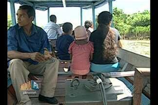 Comandante pode responder por morte de criança escalpelada em embarcação no Marajó - Comandante da embarcação pode perder habilitação e pagar multa. Criança de 11 anos morreu após ter o cabelo puxado por motor de barco.