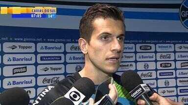 Esporte: Marcelo Grohe fala sobre Felipão - Goleiro gremista disse que novo treinador da equipe está com muita vondade de vencer.