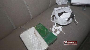 Mulher é presa com barra de 2 kg de cocaína boliviana em Guaxupé, MG - Mulher é presa com barra de 2 kg de cocaína boliviana em Guaxupé, MG
