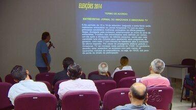 Em Manaus, reunião com partidos define debate e entrevistas na TV Amazonas - Portal G1 transmitirá ao vivo debate e entrevistas com os candidatos. Debate de 1º turno será dia 30 de setembro; dois jornais terão entrevistas.
