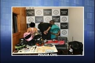 Três pessoas são presas por tráfico de drogas, furtos e roubos - Operação da PC apreende dinheiro e drogas