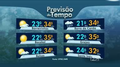Veja como fica a previsão do tempo para esta quinta-feira (7) - Na região metropolitana de São Luís, os termômetros variam entre 24 e 32 graus.