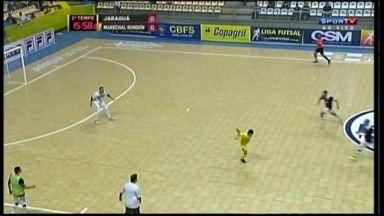 Jogador do Marechal Rondon é desafiado a repetir golaço - O pivô Márcio mostrou mais uma vez que é craque mesmo