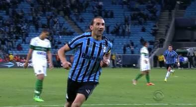 Barcos pode se tornar o maior goleador estrangeiro da história do Grêmio - Atacante tem 34 gols, enquanto Oberti, ex-jogador do clube nos anos 70, tem 35.
