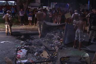 Protesto contra morte deixa trânsito congestionado em vários pontos de Salvador - Manifestação foi na Avenida Vasco da Gama.