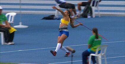 Jucilene Sales conquista o ouro no GP Brasil de Atletismo - Paraibana subiu ao lugar mais alto do pódio no lançamento de dardos, ao atingir a marca de 61m99cm, que já é o novo recorde brasileiro. A competição foi disputada no último fim de semana, no Pará.