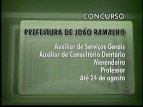 Confira as vagas de concursos abertos para Oeste Paulista - Oportunidades são para prefeituras de Ribeirão dos Índios e João Ramalho.