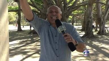 Márcio Canuto manda 'beijo' para Fátima direto do Parque do Ibirapuera - Repórter mostra grupo que se exercita ao ar livre