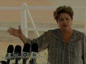 Dilma Rousseff grava guia eleitoral com Lula e fala sobre a Transposição, no Sertão de PE - Presidente e candidata à reeleição esteve em Cabrobó e em Floresta.