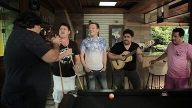 César Menotti e Fabiano e Bruno e Marrone cantam juntos e são aplaudidos por Michel Teló - César Menotti e Fabiano e Bruno e Marrone cantam juntos e são aplaudidos por Michel Teló.