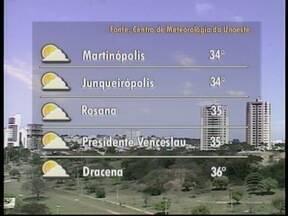 Previsão é de sol e tempo seco para o Oeste Paulista - Confira a previsão da meteorologia para este sábado (23).
