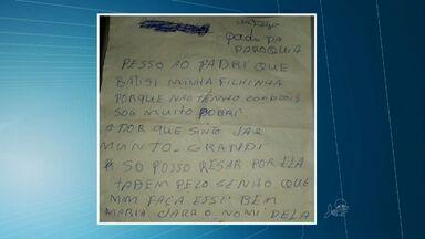 No Ceará, bebê é achado morto em paróquia com carta pedindo batismo - Criança foi deixada com um bilhete dentro de uma sacola.