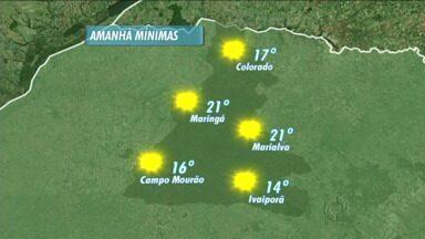Fim de semana com sol na região de Maringá - Confira a previsão do tempo para os próximos dias.