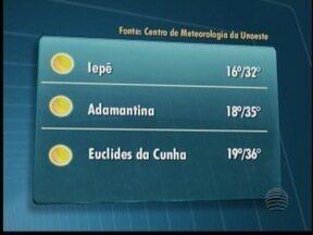 Sol deve predominar neste domingo no Oeste Paulista - Veja como devem ficar as temperaturas em algumas cidades.