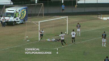 Comercial é goleado em casa pelo Votuporanguense - Partida terminou 4 a 1 para o time visitante.