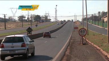 Riscos de acidentes adiam liberação de trechos duplicados na PR 445 - Pela rodovia passam mais de 20 mil veículos por dia.