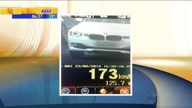 Mais de sete mil veículos foram localizados acima da velocidade em rodovias do RS - Fiscalização aumenta em todo estado.