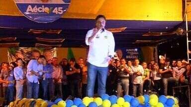 Candidato à Presidência da República, Aécio Neves, visitou o Ceará nesse fim de semana - Aécio Neves fez campanha na cidade de Iguatu.