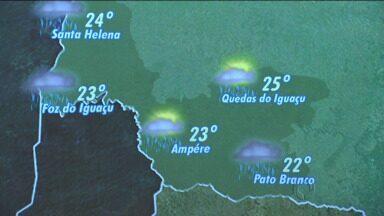 Tempo muda a partir de hoje no estado - Chuva deve chegar à região de Curitiba na manhã desta terça.