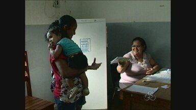 """Vacinação contra hepatite """"A"""" em crianças iniciou no começo do mês - Em Cacoal a procura foi tanta que doses reservas já estão sendo utilizadas."""
