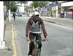 Moradores de Nova Friburgo, RJ, reivindicam a construção de ciclovias - Moradores de Nova Friburgo, RJ, reivindicam a construção de ciclovias.
