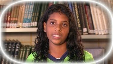 Lidiane é uma das adolescentes que recebem ajuda do Criança Esperança - Quem ainda não fez a contribuição tem tempo para doar para o Criança Esperança.