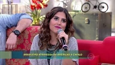 Camila Camargo conta que encarou trauma para personagem - Atriz precisou aprender montaria para novela