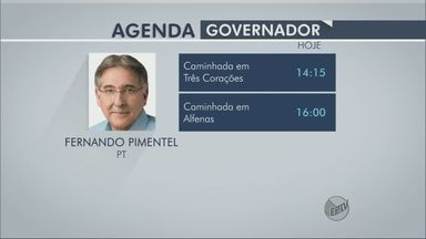 Confira a agenda dos candidatos a governador de MG - Confira a agenda dos candidatos a governador de MG