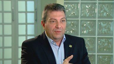 Walter Ciglioni (PRTB) fala sobre candidatura em entrevista - Candidato fala sobre projetos que promete fazer se eleito.