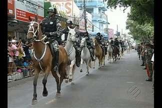 Em Marabá, o desfile pelo Dia da Independência também levou uma multidão para a cidade - Em Marabá, o desfile pelo Dia da Independência também levou uma multidão para o centro da cidade