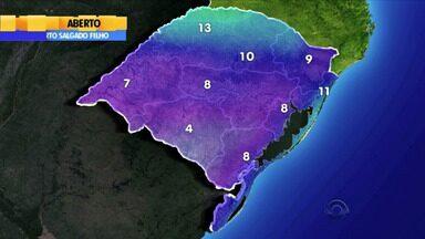 Tempo: frente fria chega ao estado na terça-feira (9) - Temperaturas devem cair muito a partir de quinta (11).
