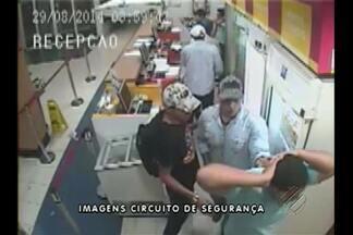 Polícia divulga imagens do assalto a um hotel, em Belém - Objetivo é tentar localizar os criminosos por meio de denúncias da população.