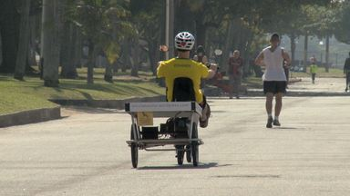 Hoje é dia de... bicicleta: Conheça a bicicleta solar - Alexandre Henderson mostra como funciona uma bicicleta que capaz de produzir energia solar