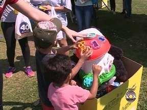Ação do Pedágio do Brinquedo é realizada no Parque dos Coqueiros - Ação do Pedágio do Brinquedo é realizada no Parque dos Coqueiros