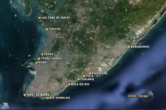 Confira as praias que estão impróprias ao banho, em Salvador - São 13 praias no total; veja no mapa.