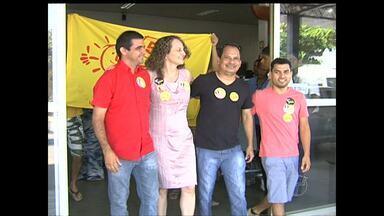 Candidata do PSOL à presidência faz campanha em Santarém - Luciana Genro chegou neste sábado (13).