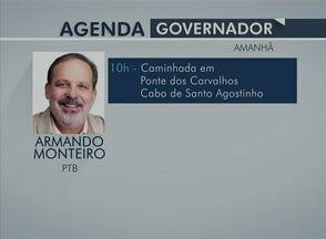 Veja a agenda dos candidatos ao governo de PE para este domingo (14) - Horário eleitoral para governo estadual teve início em 20 de agosto.