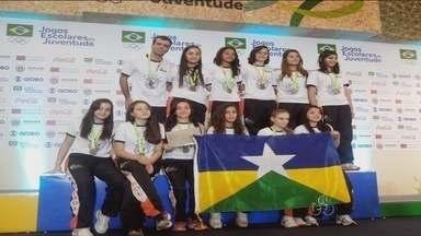 Handebol de Rondônia é destaque nos Jogos da Juventude, no Paraná - Garotas de Rolim de Moura trouxeram a medalha de ouro para Rondônia.