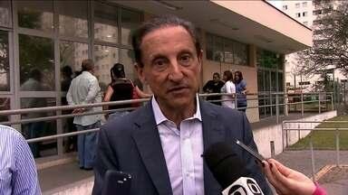 Paulo Skaf visita hospital da zona norte - O candidato do PMDB falou de suas propostas para a saúde.
