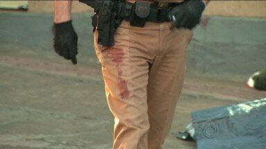 Assaltante é morto no centro de Londrina - O bandido tentava assaltar um posto quando foi surpreendido por uma equipe da PM.