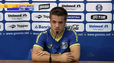 Futebol: Fluminense preocupa meio-campo tricolor Ramiro - Jogador afirma que Grêmio precisa minimizar qualidades do time carioca para vencer partida. O jogo terá exibição na RBS TV, na quarta-feira, a partir das 22h.