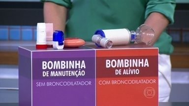 Conheça os diferentes tipos de bombinha para tratamento de asma - As bombinhas podem ser em spray ou pó. Aquelas de alívio abrem os pulmões rapidamente, mas não tratam a asma. Já as bombinhas de manutenção desinflamam os pulmões.
