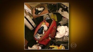 Turistas brasileiros têm malas reviradas dentro de hotéis na Flórida (EUA) - Pelo menos um brasileiro é roubado por dia, de acordo com os números do consulado. Os turistas têm as malas reviradas dentro do hotel e quando deixam compras dentro do carro.