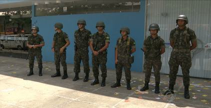 Tropas Federais não tiveram muito trabalho neste domingo de eleições em CG - Eleitores se sentiram mais seguros com os 400 homens do Exército nas ruas.