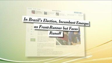 Imprensa internacional repercute as eleições no Brasil - Os jornais estrangeiros destacaram as eleições disputadas e a decisão que ficou para o segundo turno. Segundo o Tribunal Superior Eleitoral, mais de 350 mil eleitores brasileiros votaram para presidente no exterior.